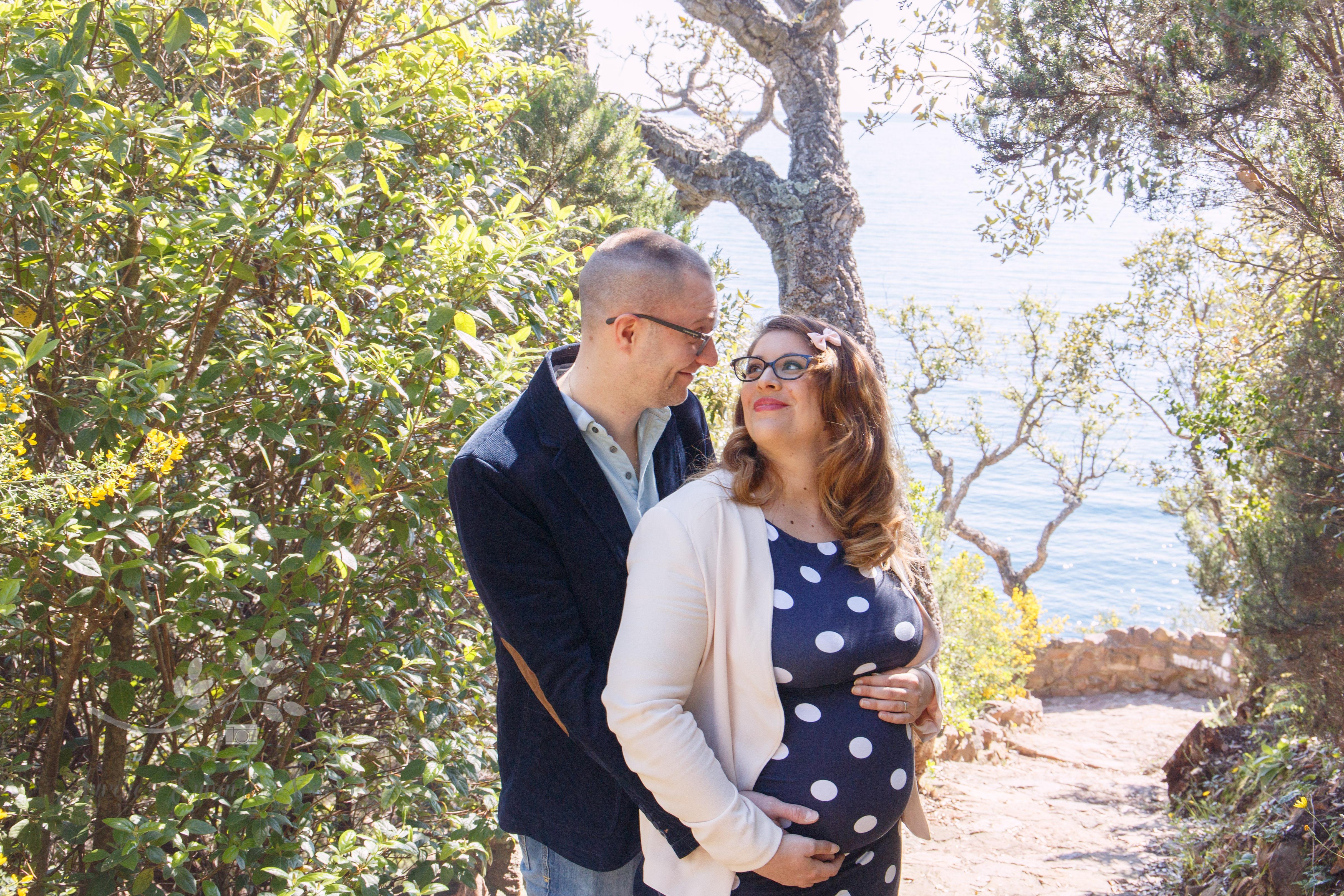 Photo couple femme enceinte