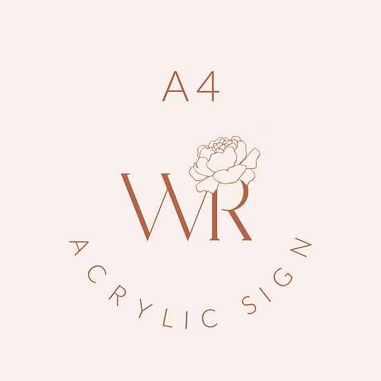 A4 Acrylic Business Sign