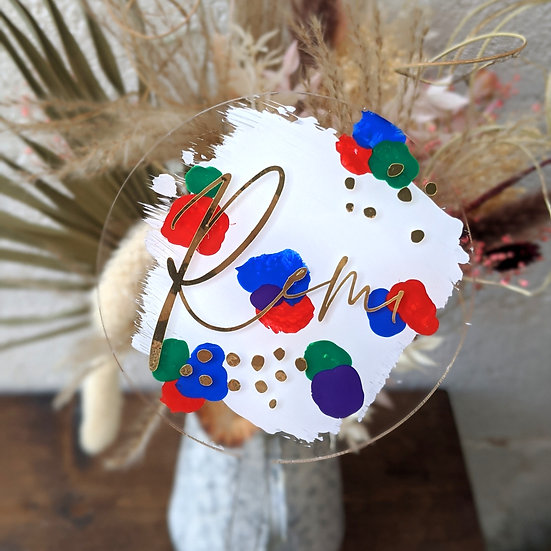 Abstract Cake Topper