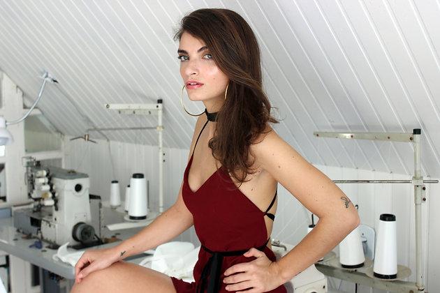 Vestido Red Wine