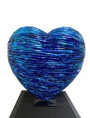 Alfredo Longo - Blue Heart 2020 - 40 x 4