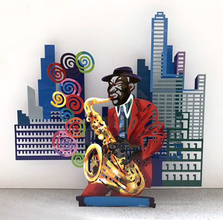 Jazz and the city - Saxophonist