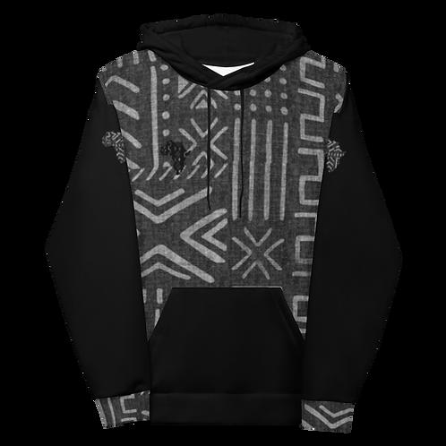 Smoked grey vest Mudcloth Hoodie - Unisex