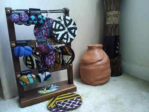 Ankara fabric wrapped Jewelry