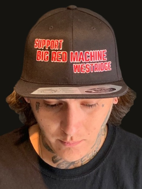 Black Support BRM West Snap Hat