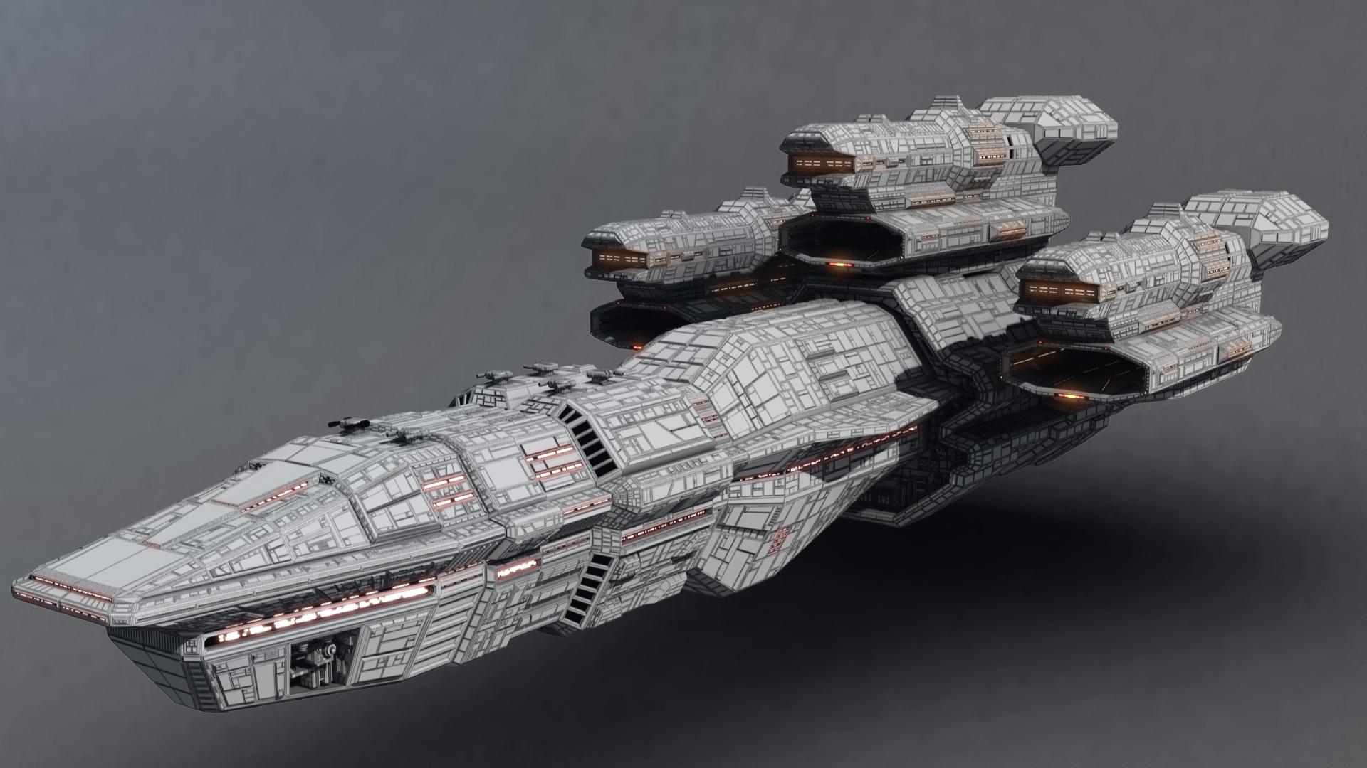 Battleship Wireframe