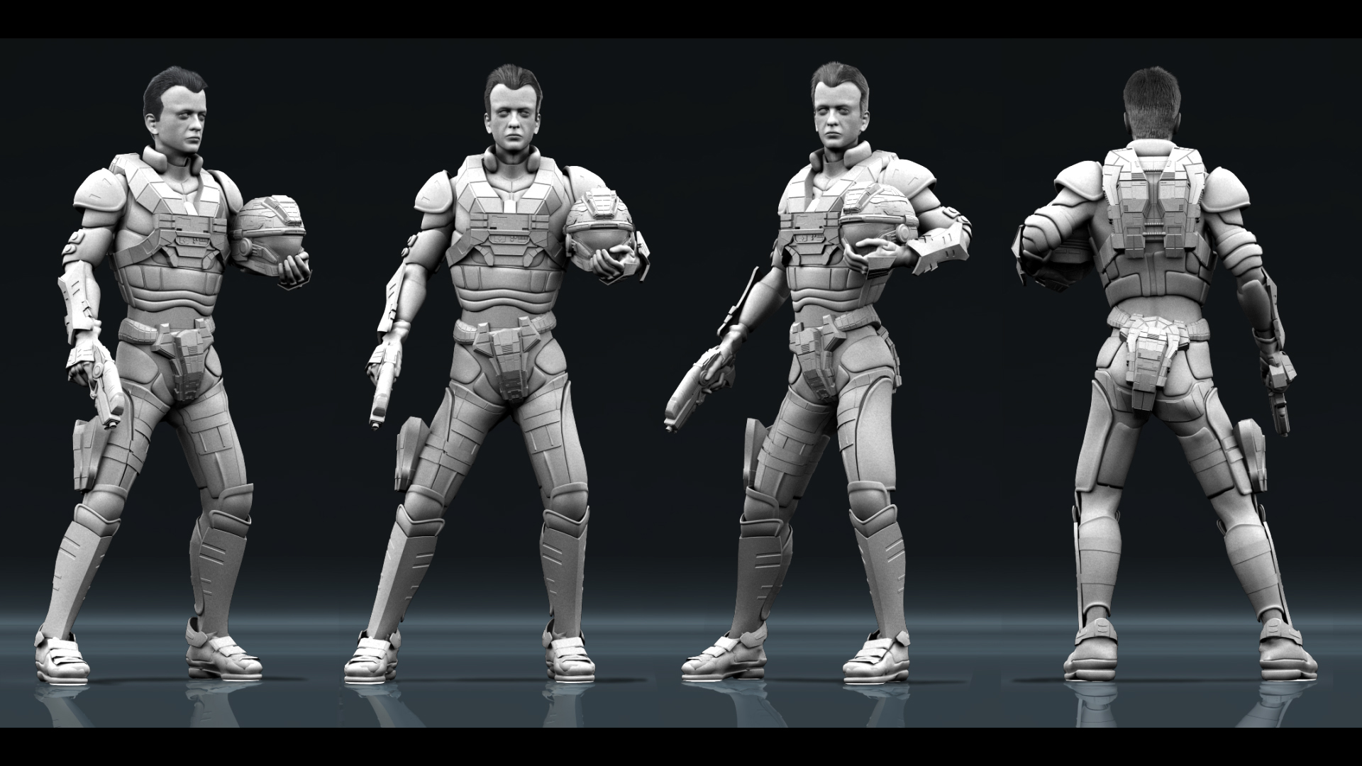 Space Marine Character Study COMP Ambient Occlusion