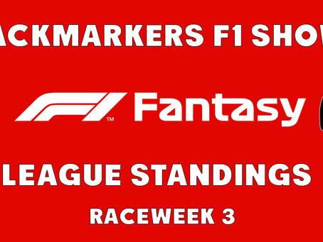 F1 Fantasy Standings After Raceweek 3