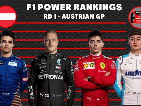 Formula 1 Driver Power Rankings Post Austrian GP