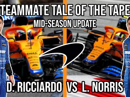 Norris vs Ricciardo | Teammate Tale of the Tape - Mid-Season Update | McLaren F1