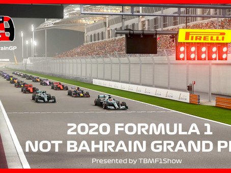 2020 Bahrain Grand Prix Simulation to air on TBMF1Show YouTube Channel March 22nd