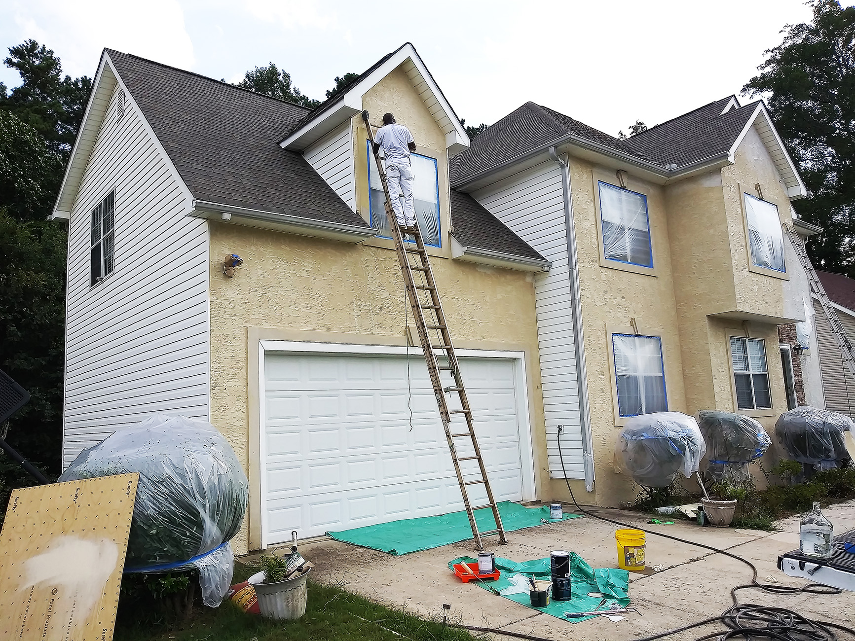 Exterior Re-paint - During