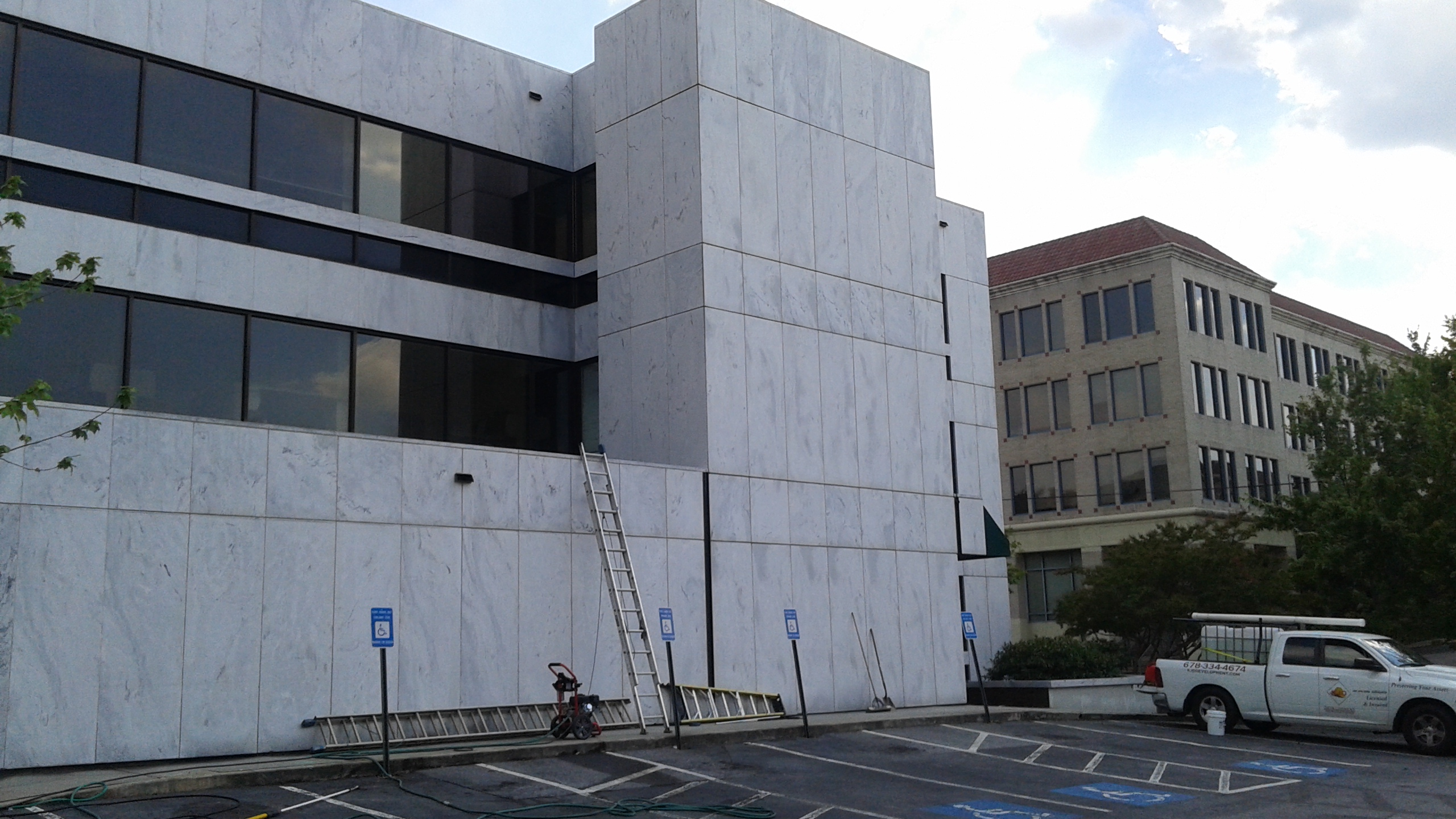 Power Wash - Commercial  building