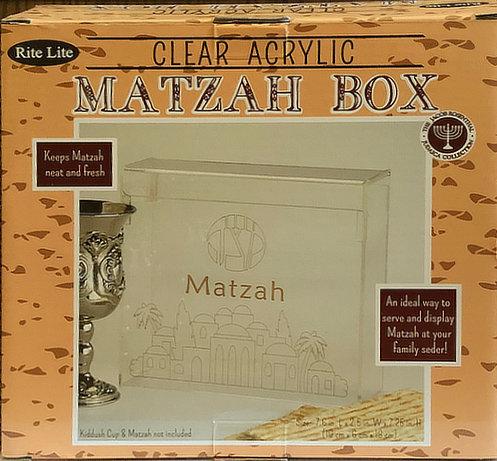 Clear Acrylic Matzah Box