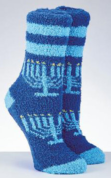 Chanukah Cozy Slipper Socks, Adult
