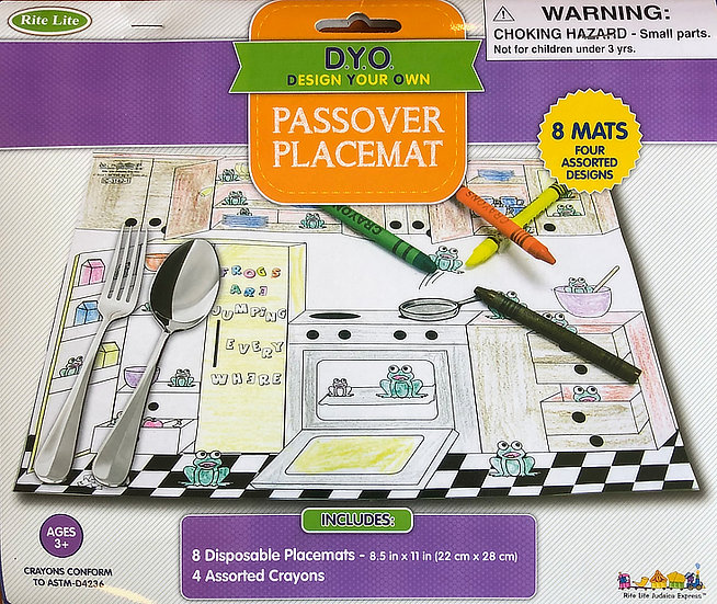DYO - Do Your Own Passover Placemat