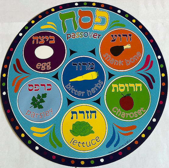 Vinyl Passover Placemat
