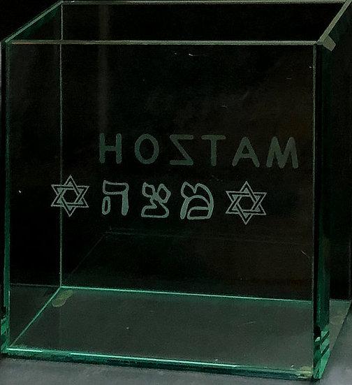 Glass matzah box