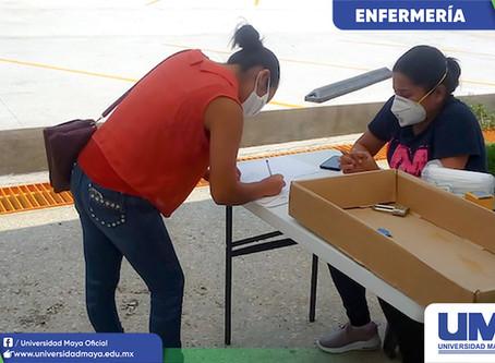 Entrega de insumos a pasantes de Enfermería campus Tuxtla y Tapachula.