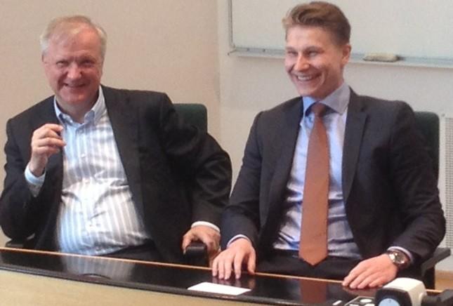 Mikkelissä Olli Rehnin kanssa