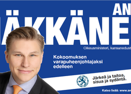 Antti Häkkänen ehdolla jatkamaan Kokoomuksen varapuheenjohtajana