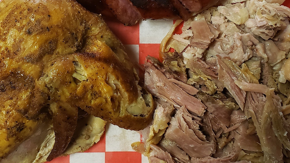Smoked Chicken & Chopped Pork Dinner