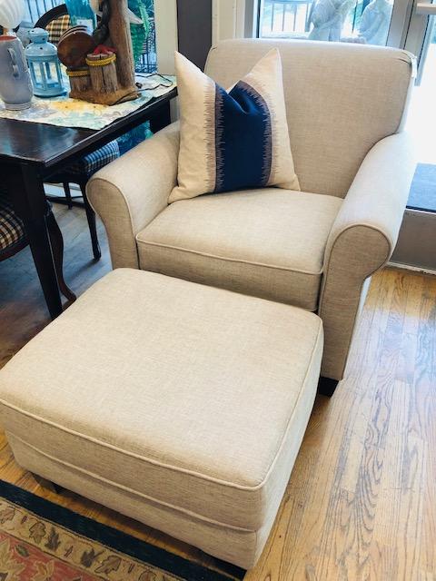 Chair + ottoman