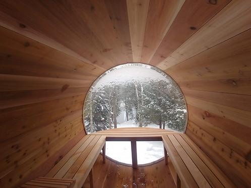 Sauna Boréal Panoramique - 9 pieds