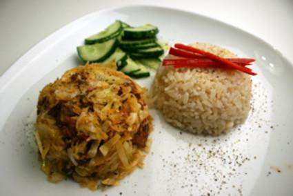 spitskool met rijst