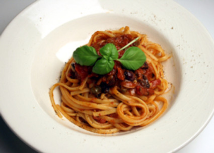 pasta met zelfgemaakte tomatensaus