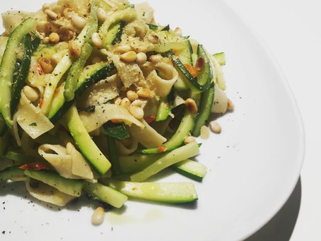 snelle courgettepasta