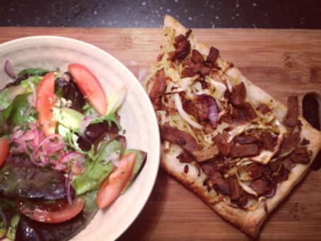 'pizza' met witte kool