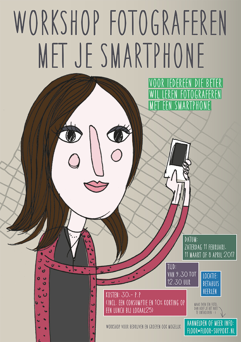 poster fotograferen smartphone