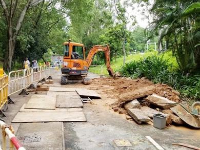 完善公園嚴重工程意外    工人死裡逃生