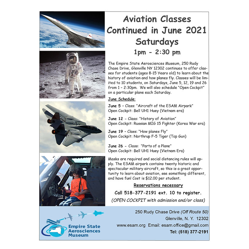 Aviation Classes for Students - June