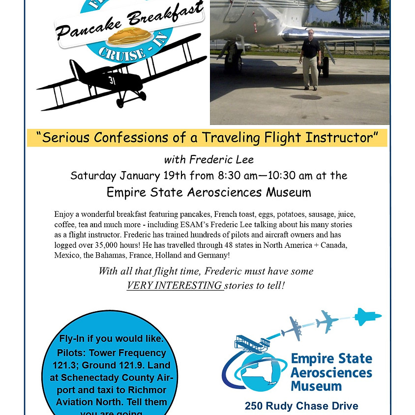 Fly-In Breakfast With Flight Instructor Fred Lee