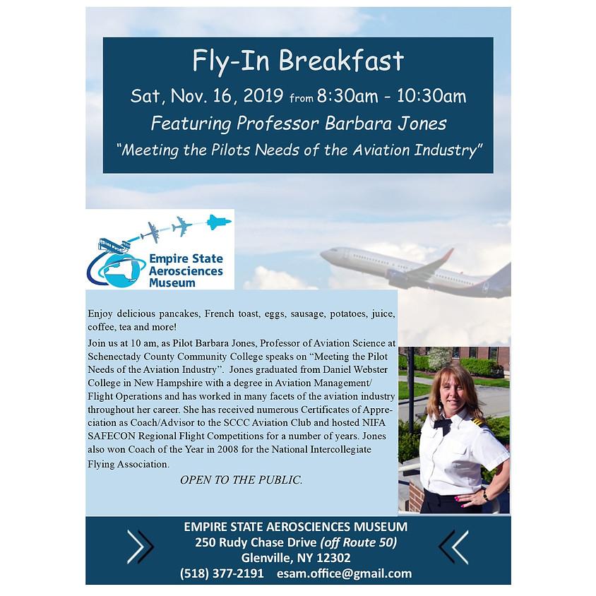 ESAM Fly in Breakfast Featuring Professor Barbara Jones