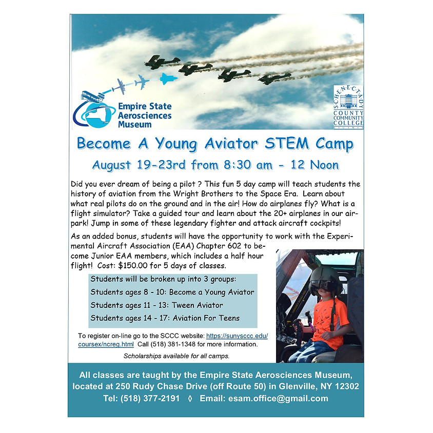 Become a Young Aviator STEM Camp