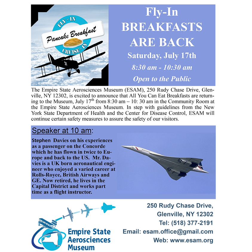 Fly-In Breakfasts are Back