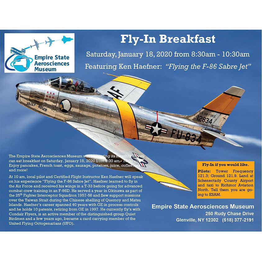 """ESAM Fly in Breakfast - """"Flying the F-86 Sabre Jet"""""""