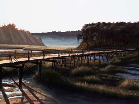 Morning Light on Uncle Tim's Bridge