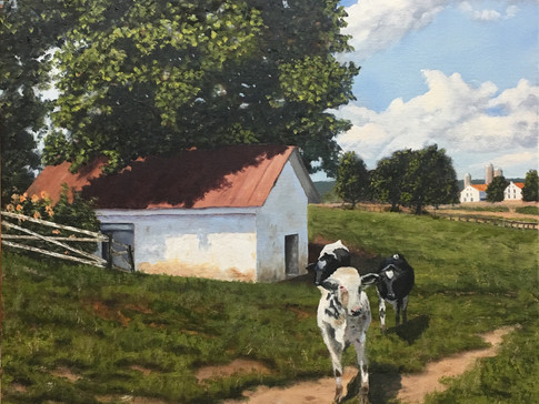 """""""Springhouse and Cows"""""""