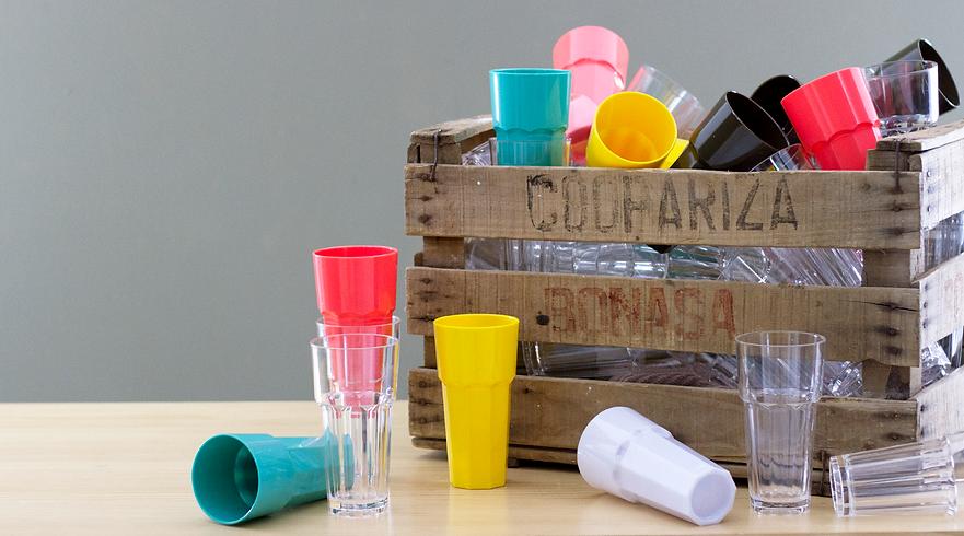Bassos | Vasos de policarbonato compacto.