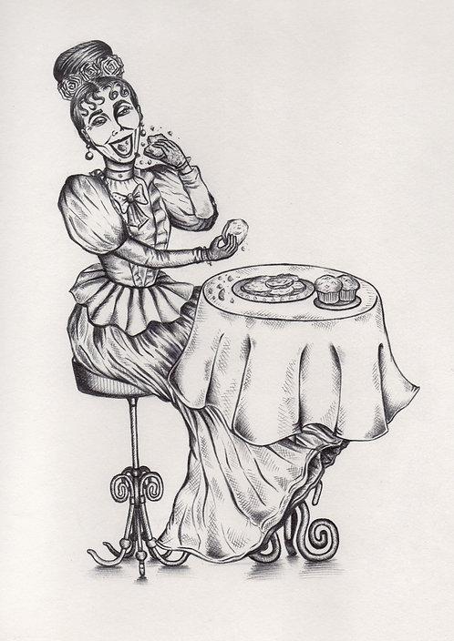 'Feelin' Peckish' ORIGINAL Illustration