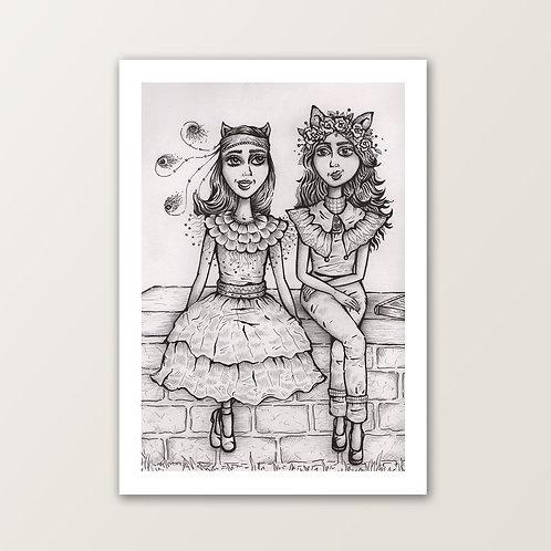 'Laila & Mia' PRINT