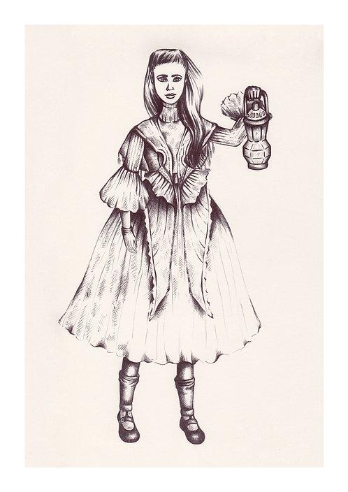 'Lily Anna' PRINT Illustration