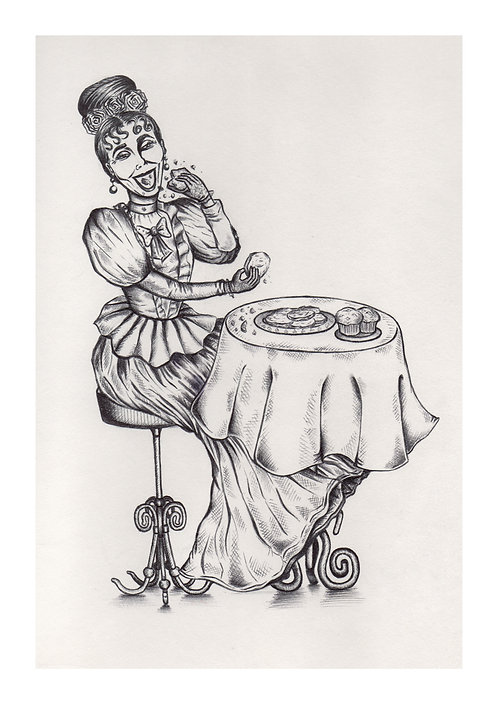 'Feelin' Peckish' PRINT Illustration