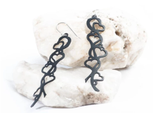 Follow Your Heart Up-cycle Earrings