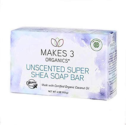 Unscented Organic Super Shea Soap Bar