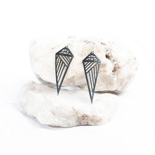 Asymmetric Diamond Eco-Upcycle Earrings